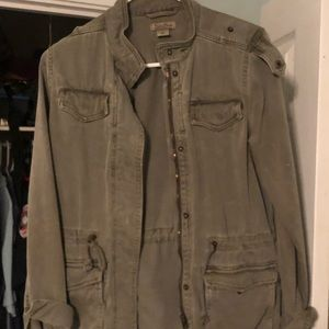 XS lucky brand olive green army jacket